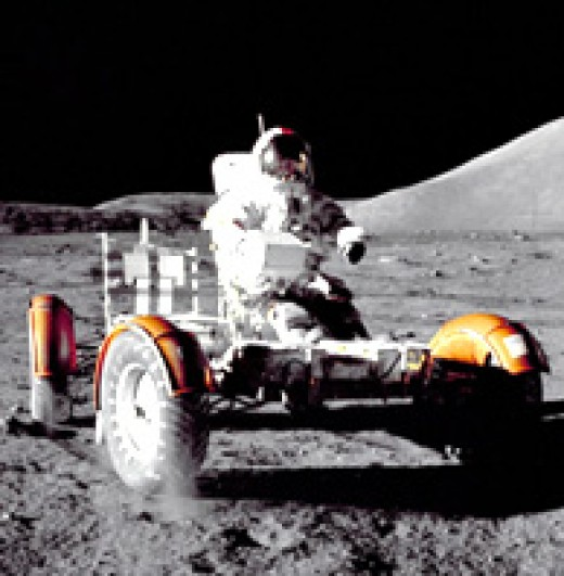 They drove a car on the moon in later missions