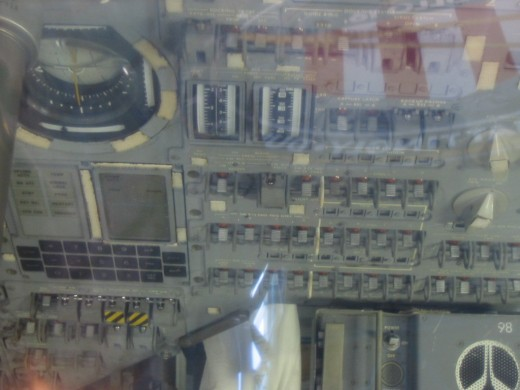 The interior of the Command Module