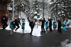 A splash of color at your winter wedding.