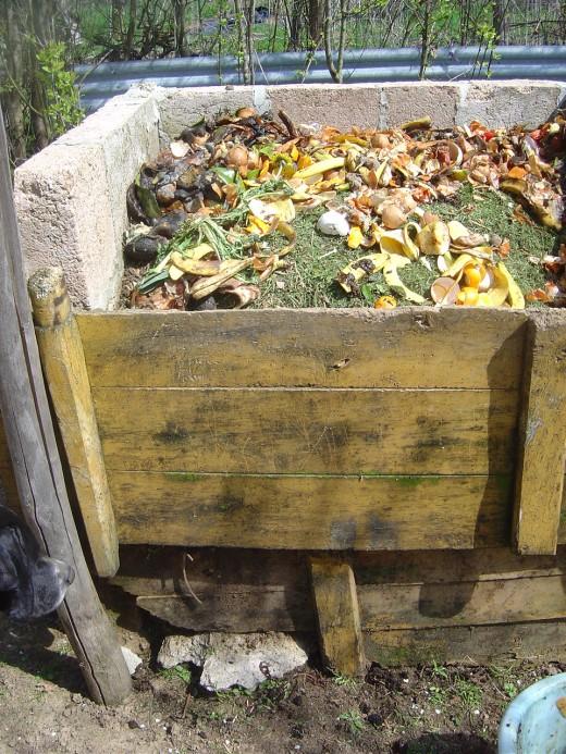 Compost bins at Les Trois Chenes