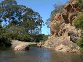 The swimming hole in the Lerderderg Gorge