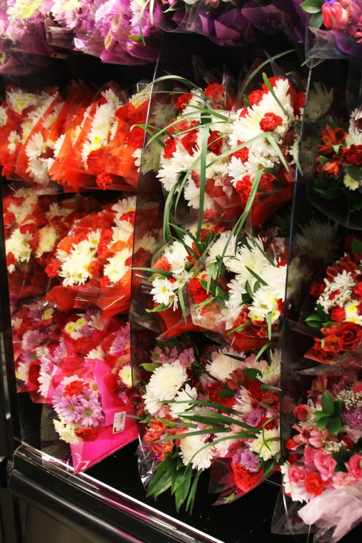 Flowers in the Produce Section
