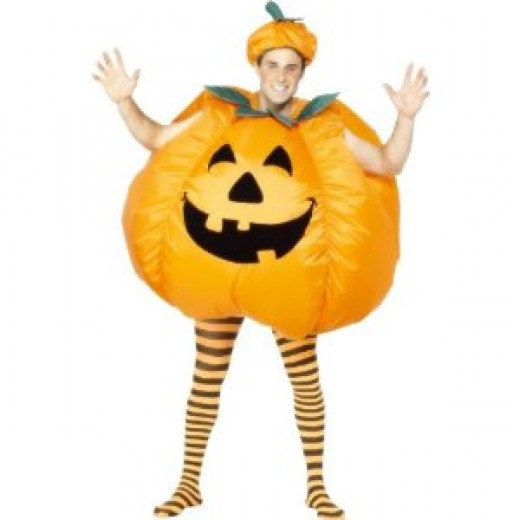 Adults inflatable pumpkin costume available in the UK