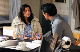 Later when Zainab arrives back on the square she is shocked to discover Amira has returned ,and that she has a granddaughter.