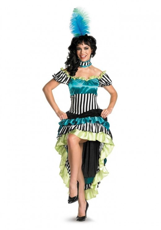 Cancan costume dress