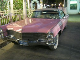 "You can even drive up in a ""pink Cadillac"" that was once driven by ""Elvis."""