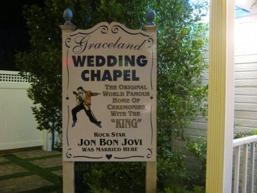 Graceland Wedding Chapel where Jon Bon Jovi chose to marry!