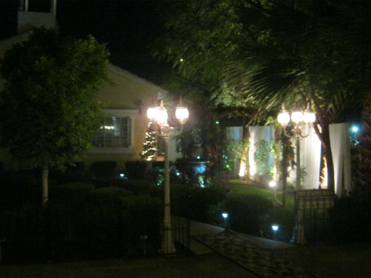 "Side view of ""Mon Bel Ami"" chapel."