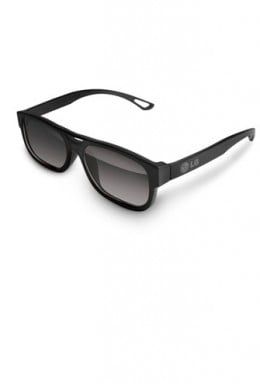 LG passive glasses - more like sunglasses and will usually fit over prescription glasses.