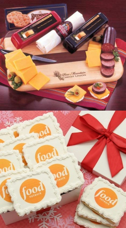 Corporate Logo Cookies & Cutting Board Meat/Cheese Gift from AA Gifts & Baskets