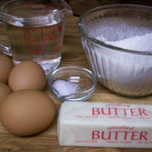 Cream Puff Ingredients