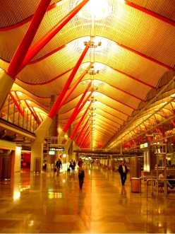 Terminal 4 of Madrid Barajas Airport, Spain.