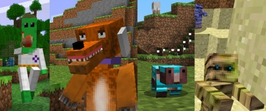 More creepy minecraft wierdos from the creeps and weirdos mod.
