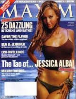 Jessica Alba on the cover of Maxim a few years back.