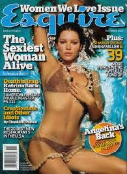 Jessica Biel was named Esquire's Sexiest Woman Alive in 2007.