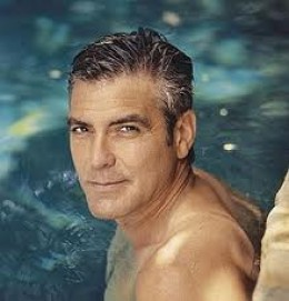 George Clooney posing for a magazine a few years ago.