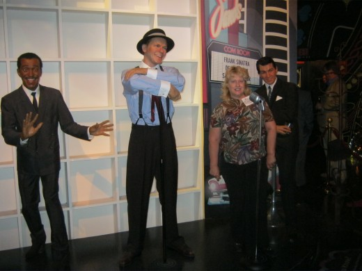 Pretending  to sing with the Rat Pack.