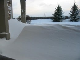 Another blizzard photo... nothing like looking out at a WALL of snow!