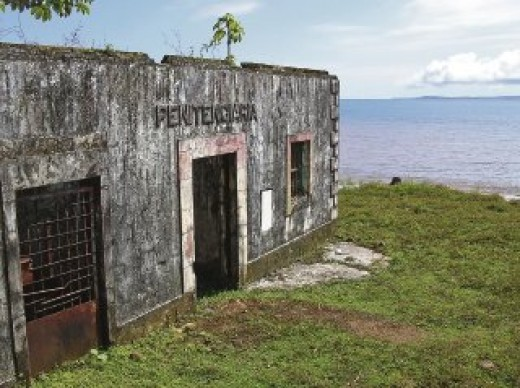 A prison block at Devils island