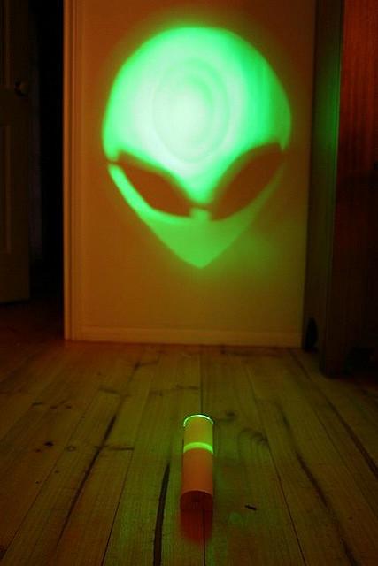Popular depiction of aliens as little green men!!