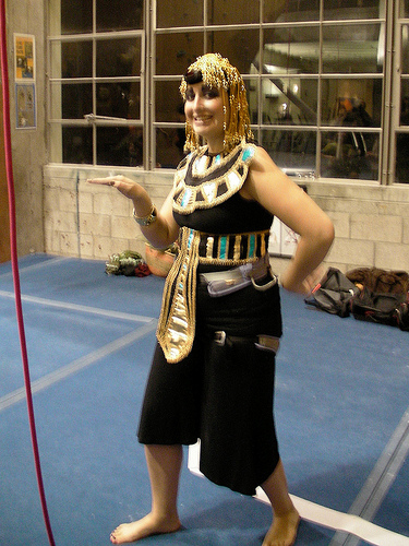 Don't forget to walk like an Egyptian!