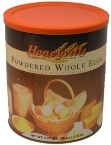 Yummy eggs shaped like a can