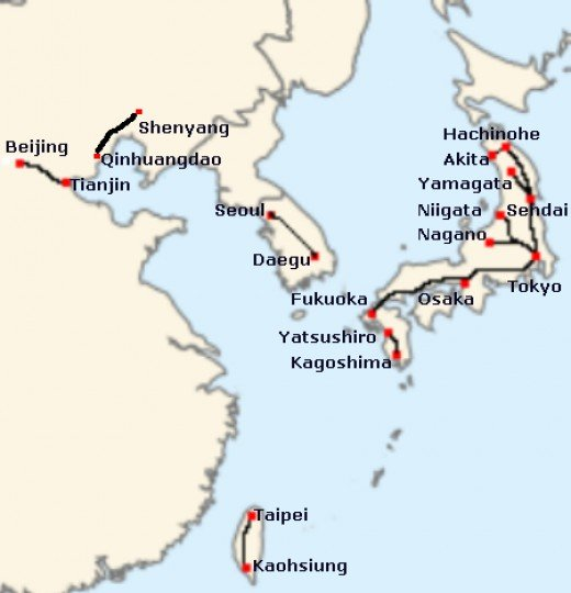 East Asian high speed rail systems