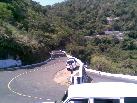 One of Hairpin bend of Valpara Road. Valpara route has around 40 hairpin bends.