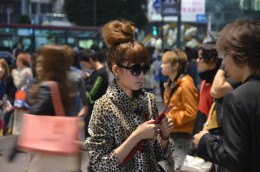 Her hair and outfit are AMAZING. Way to channel Audrey Hepburn!