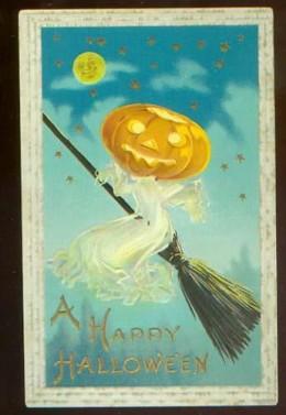 Vintage Halloween postcard, c. 1900-1910