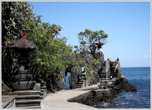 Batu Bolong Temple at Senggigi Area.