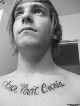 Love Conquers  Latin Tattoo on Tatto Ideas  Lettering