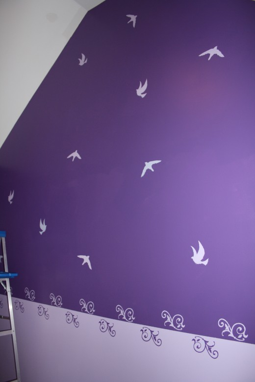 Birds on two walls