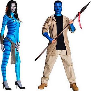 Avatar's Neytiri and Jake Sulley Costumes