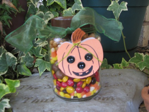 Layered Candy Jar.  This one is for Halloween!