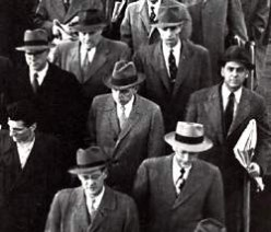 THESE ARE BUSINESSMEN OF THE 50'S. SEE HOW THEY ARE ALL DRESSED PRETTY MUCH ALIKE?