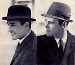 MEN ALWAYS WORE HATS IN THE 50'S. ALWAYS. THEY WOULDN'T GO IN PUBLIC WITHOUT THEIR HATS.