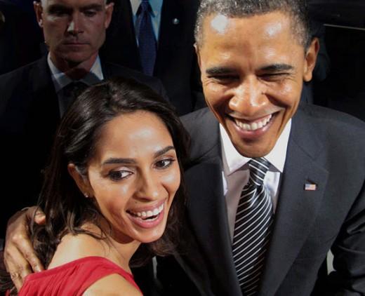 Mallika with Obama!
