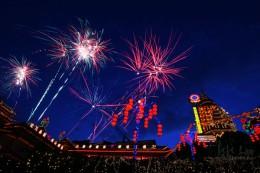 Fireworks at Kek Lok Si Temple, Penang