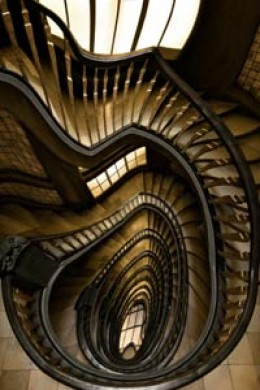 Things may appear as distorted and that reality is bending such as this staircase