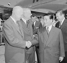President Eisenhower meets President Ngo Dinh Diem.