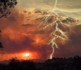lightning and colors from vibrations