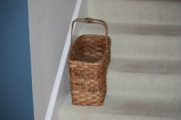 Basket for the bottom of your stairs