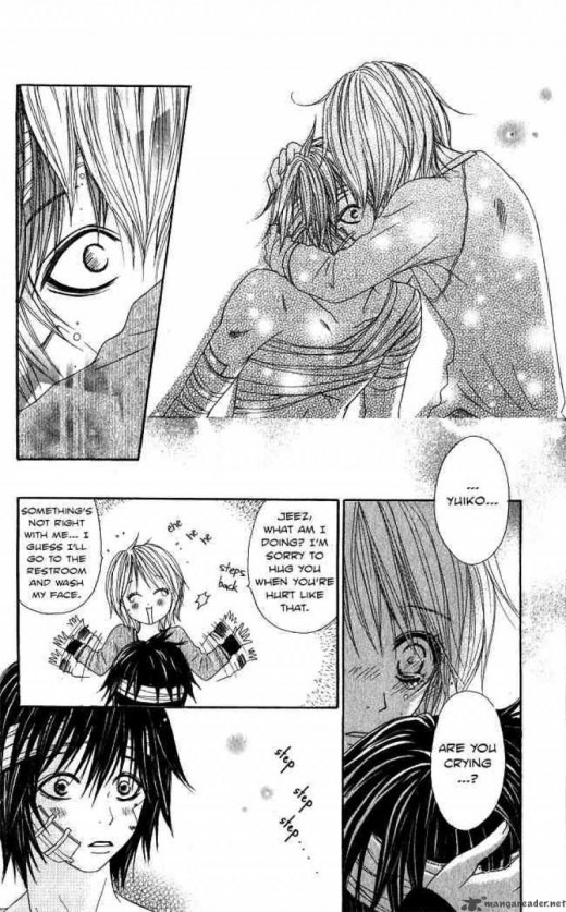 Yuiko witnessed how Leo fought for his life when he got beaten up in front of her and almost lost him. That's why when Leo woke up, she suddenly hugged him unconsciously. Love took its own actions! :)