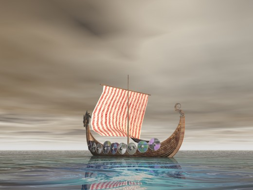 The Vikings influenced the English language by introducing new words.