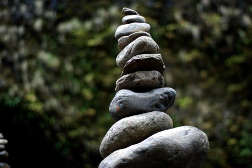 Does the cares and demands of life (aka stress) pile up on you like this stack of stones and they're ready to fall?