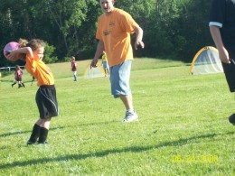 Playing with your kids, whether it is sports or otherwise, is a great way to improve your health.