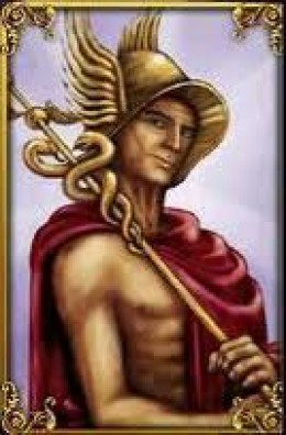 Hermes and the caduceus
