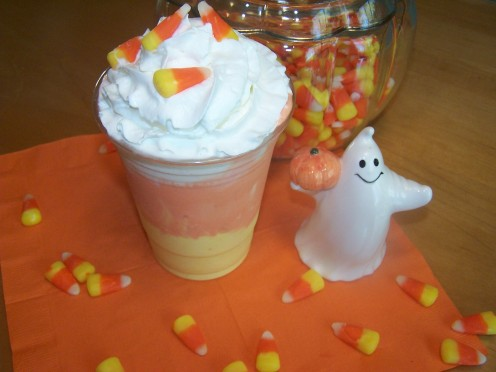Candy Corn Ice Cream: Kids love ice cream! Why not color it and layer it to look like candy corn?