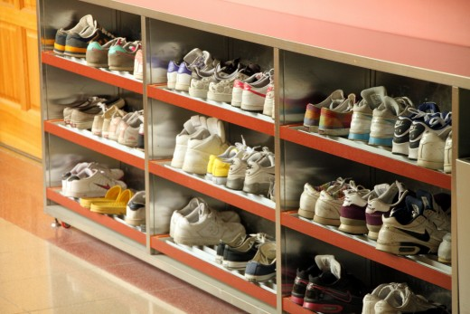 Create a cubical to store all of your shoes.